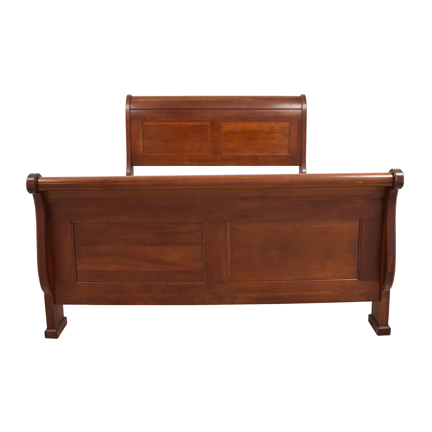 shop Solid Cherry Wood Queen Sleigh Bed online