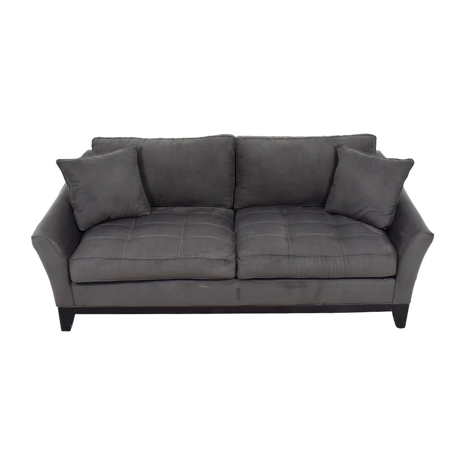 buy Raymour and Flanigan Slate Microfiber Two-Seater Sofa Raymour and Flanigan Sofas