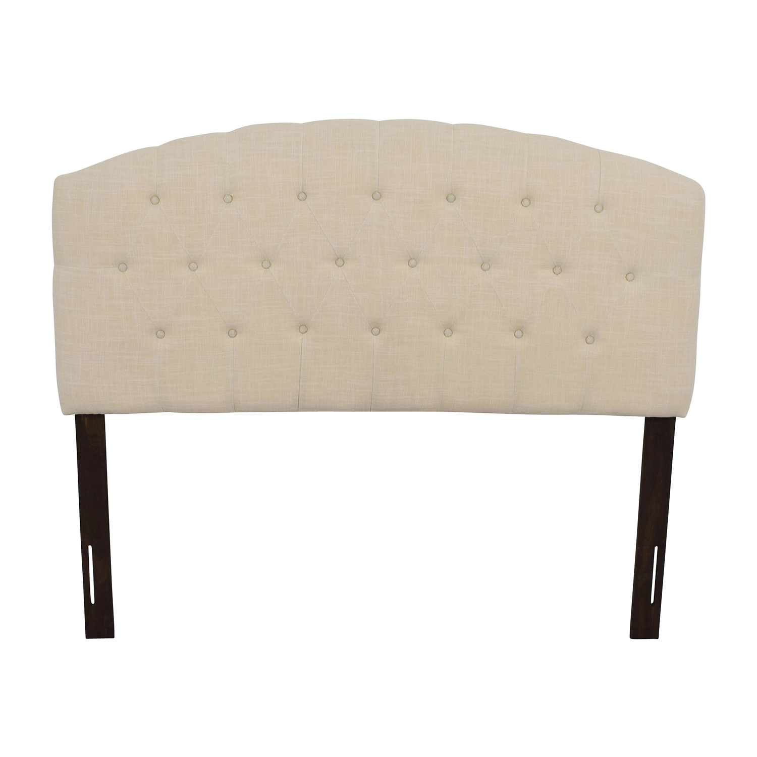 Humble + Haute Humble + Haute Ivory Linen Blend Curved Upholstered Headboard used
