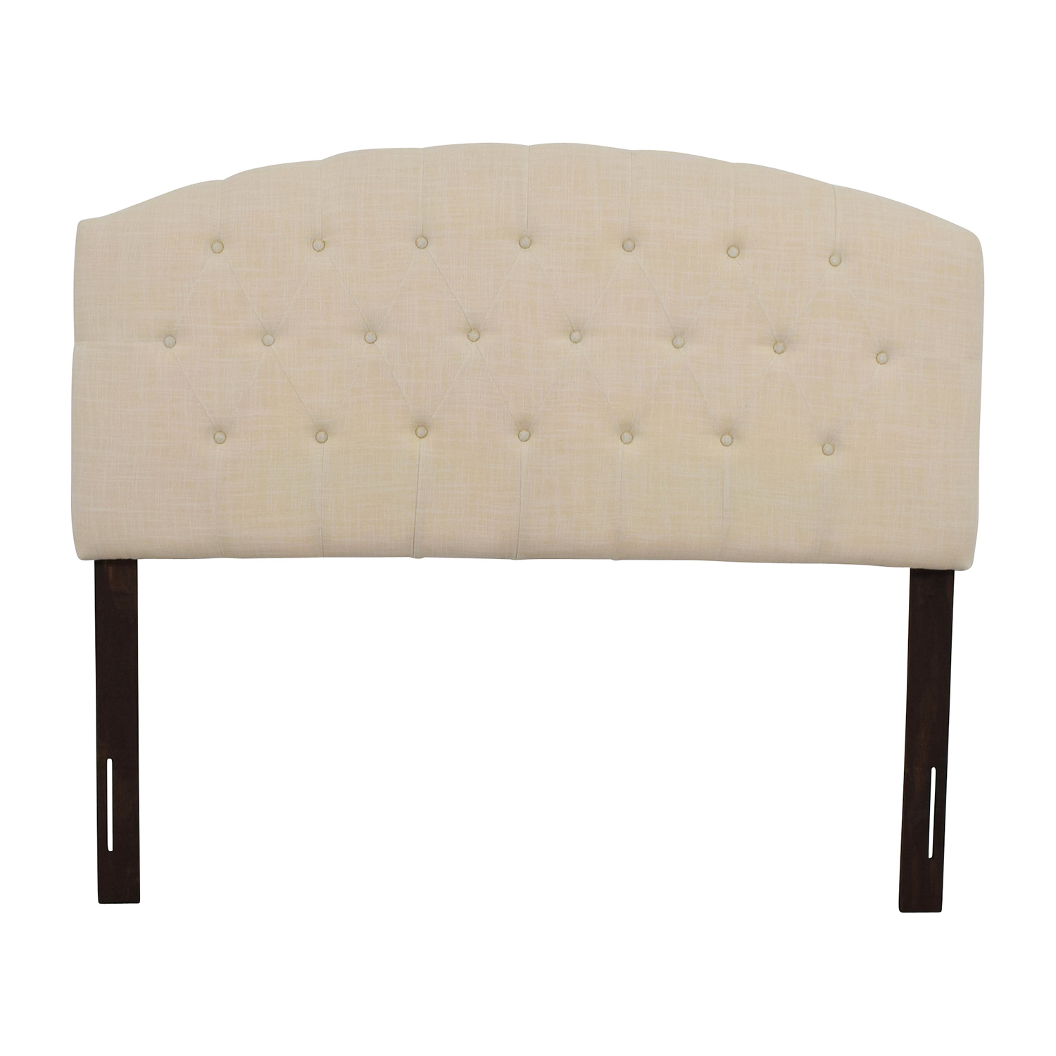 buy Humble + Haute Ivory Linen Blend Curved Upholstered Headboard Humble + Haute Headboards