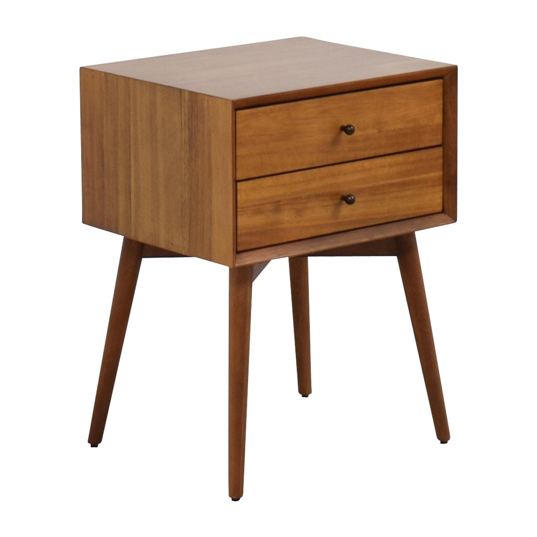 49 off west elm west elm mid century nightstand tables. Black Bedroom Furniture Sets. Home Design Ideas