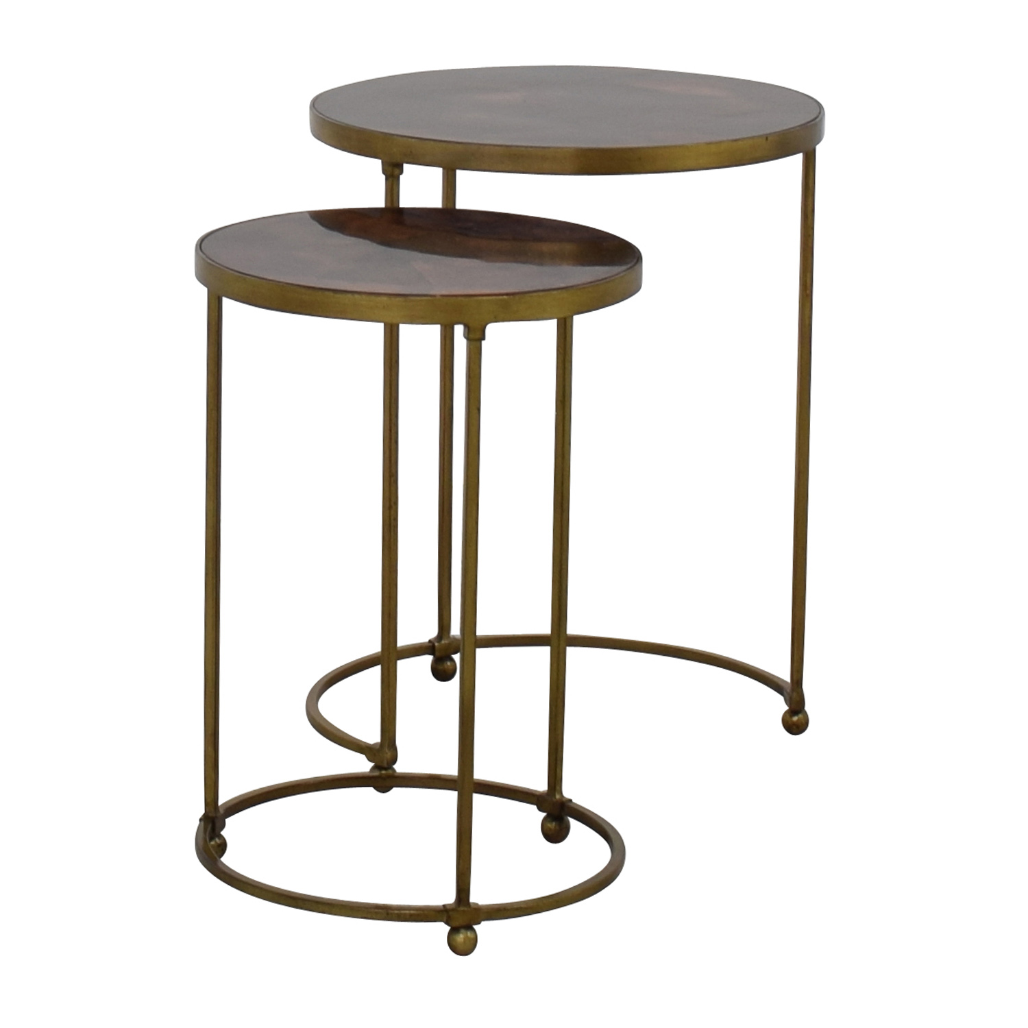 ABC Carpet and Home ABC Carpet & Home Nesting Round Bronze and Brass Accent Tables price