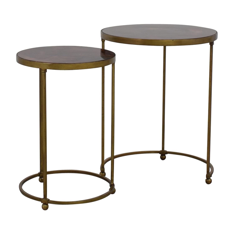 buy ABC Carpet & Home Nesting Round Bronze and Brass Accent Tables ABC Carpet and Home Tables