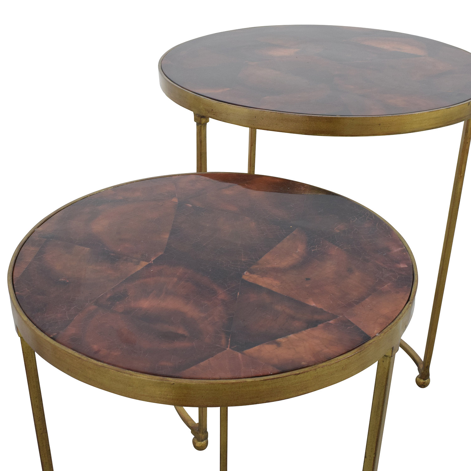 shop ABC Carpet & Home Nesting Round Bronze and Brass Accent Tables ABC Carpet and Home