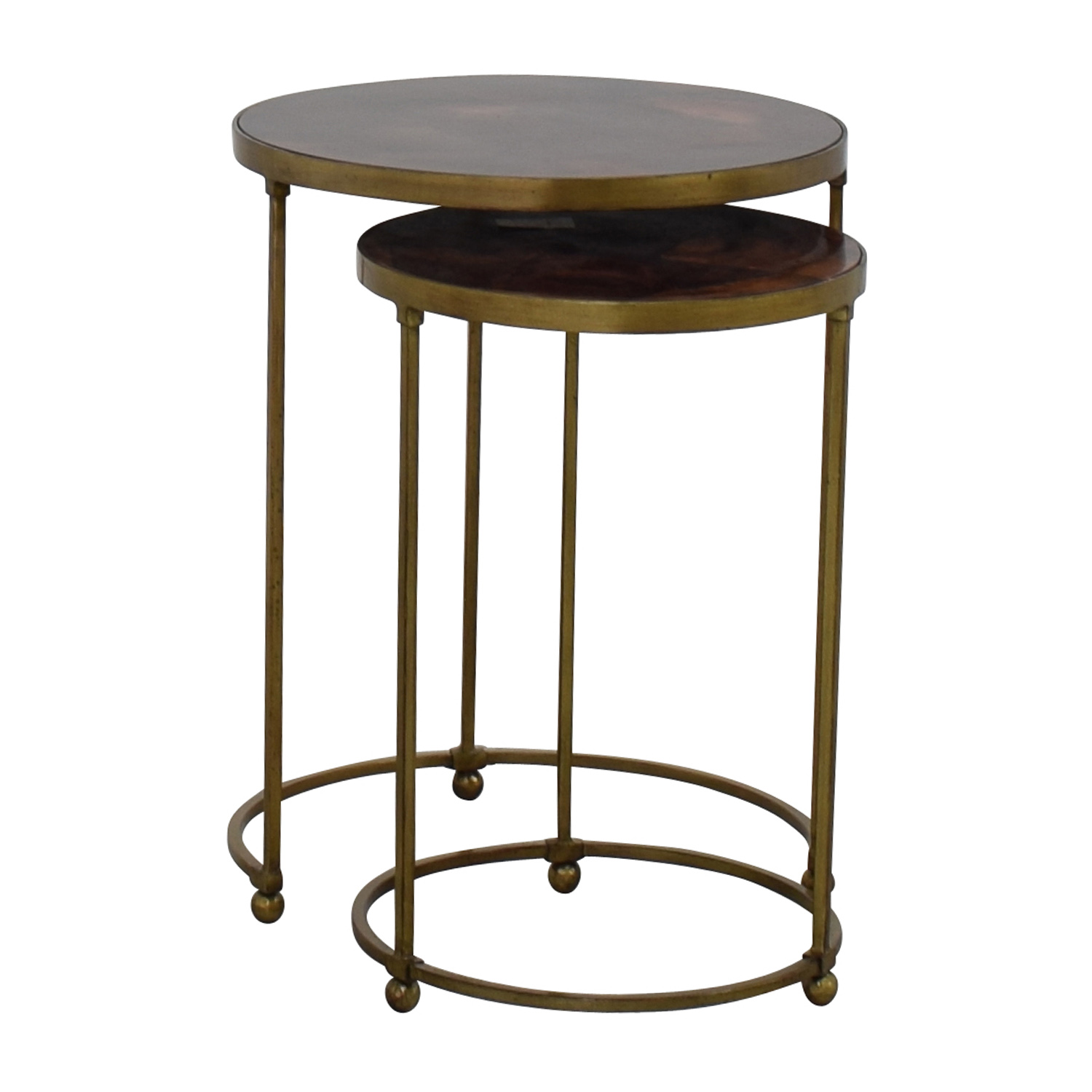 buy ABC Carpet and Home ABC Carpet & Home Nesting Round Bronze and Brass Accent Tables online