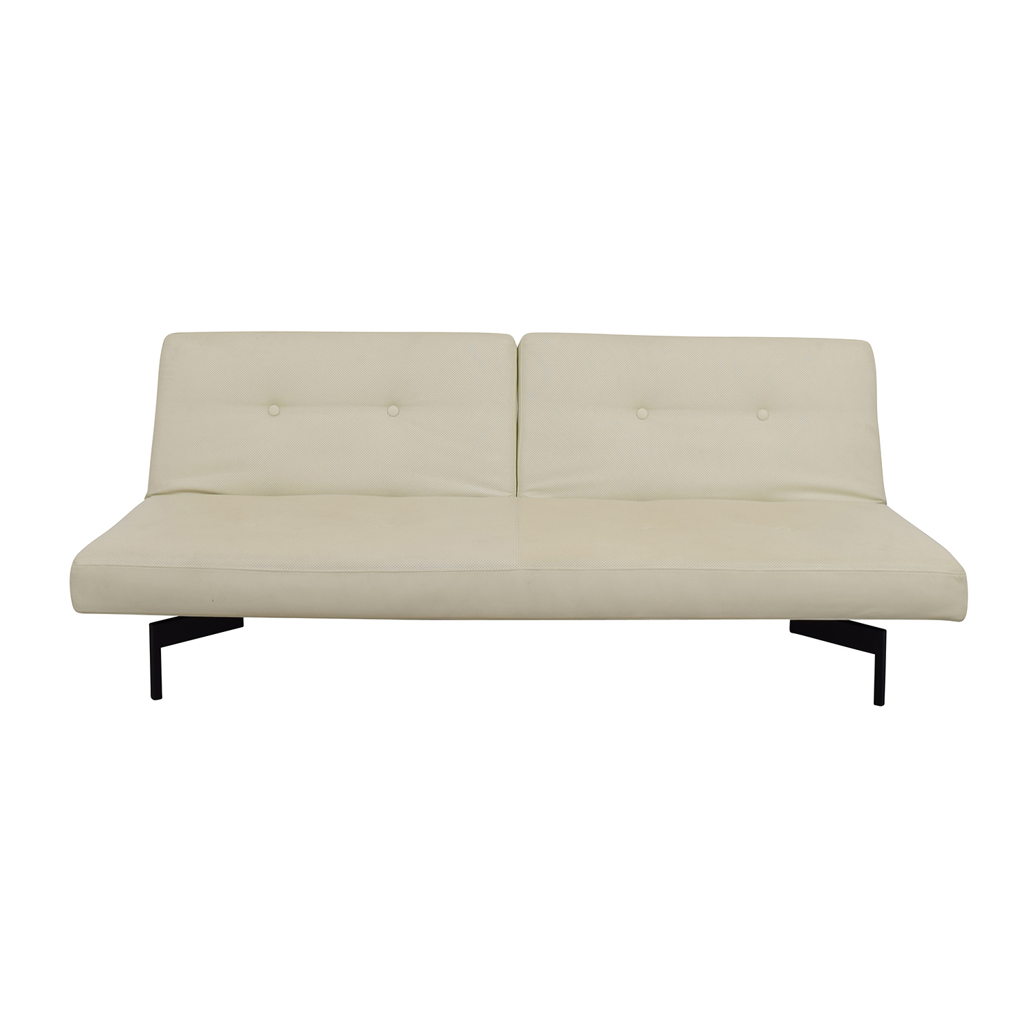 ABC Carpet and Home ABC Carpet & Home Ivory Tufted Sofa Bed nyc
