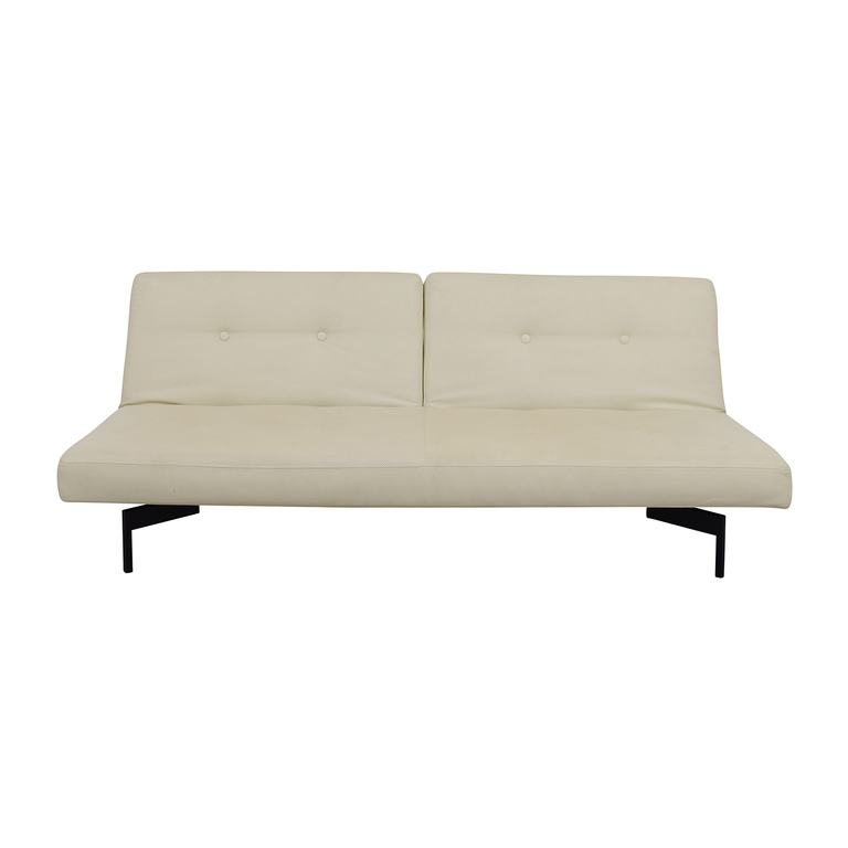 ABC Carpet and Home ABC Carpet & Home Ivory Tufted Sofa Bed on sale
