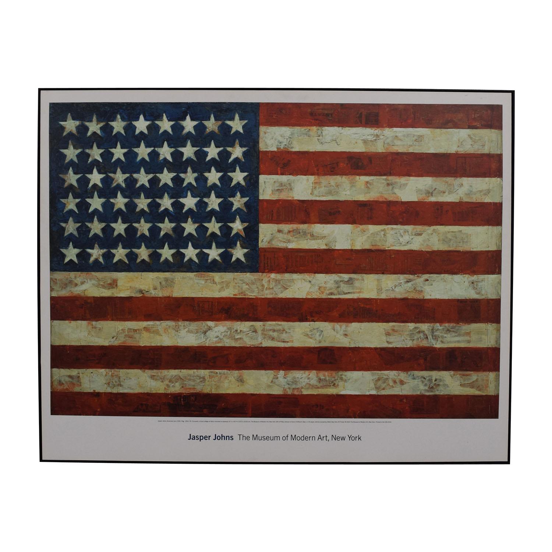 shop MOMA Design Store Moma Design Store Jasper Johns USA Flag Wall Art online