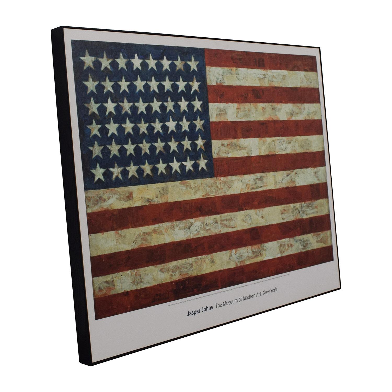MOMA Design Store Moma Design Store Jasper Johns USA Flag Wall Art Wall Art