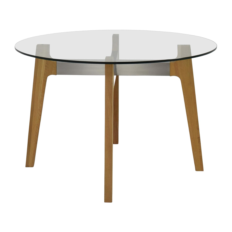 shop Crate & Barrel Crate & Barrel Mid-Century Glass Table online