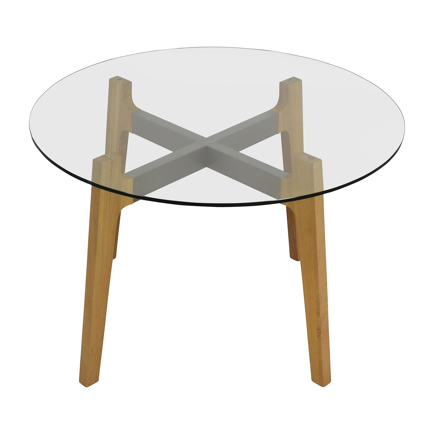 buy Crate & Barrel Mid-Century Glass Table Crate & Barrel Dinner Tables