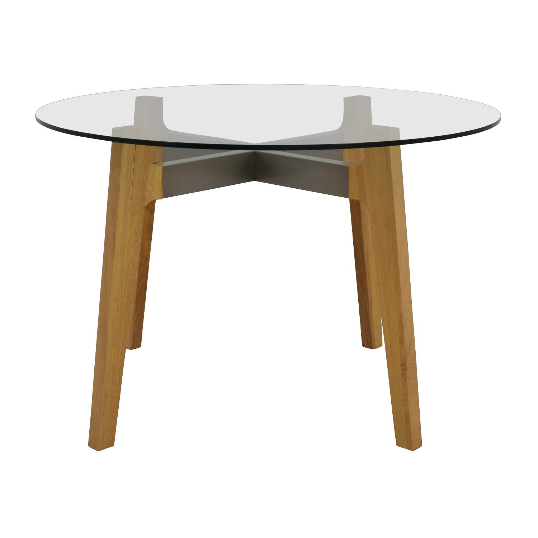 buy Crate & Barrel Crate & Barrel Mid-Century Glass Table online