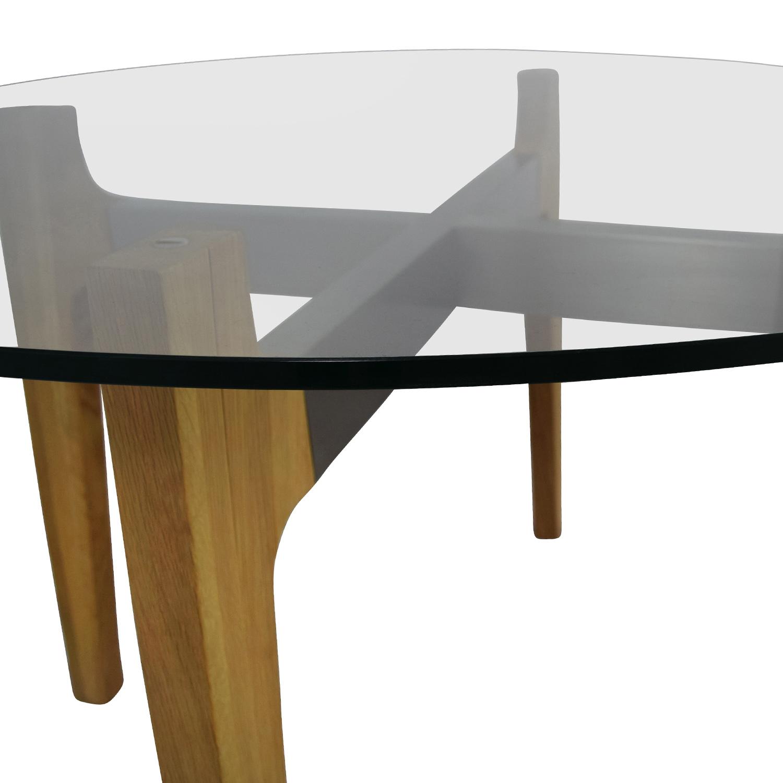 48% OFF Crate & Barrel Crate & Barrel Mid Century Glass Table
