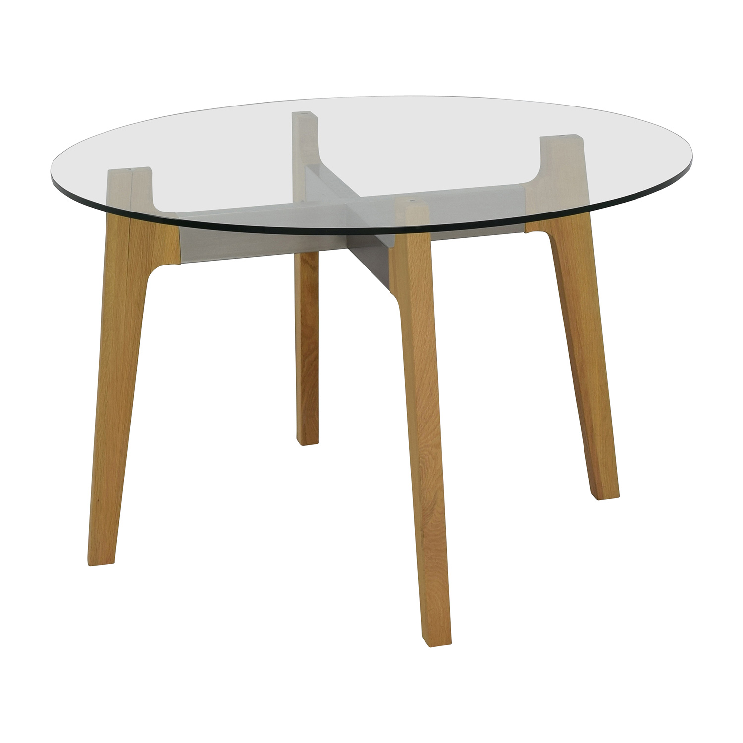 Crate & Barrel Crate & Barrel Mid-Century Glass Table second hand