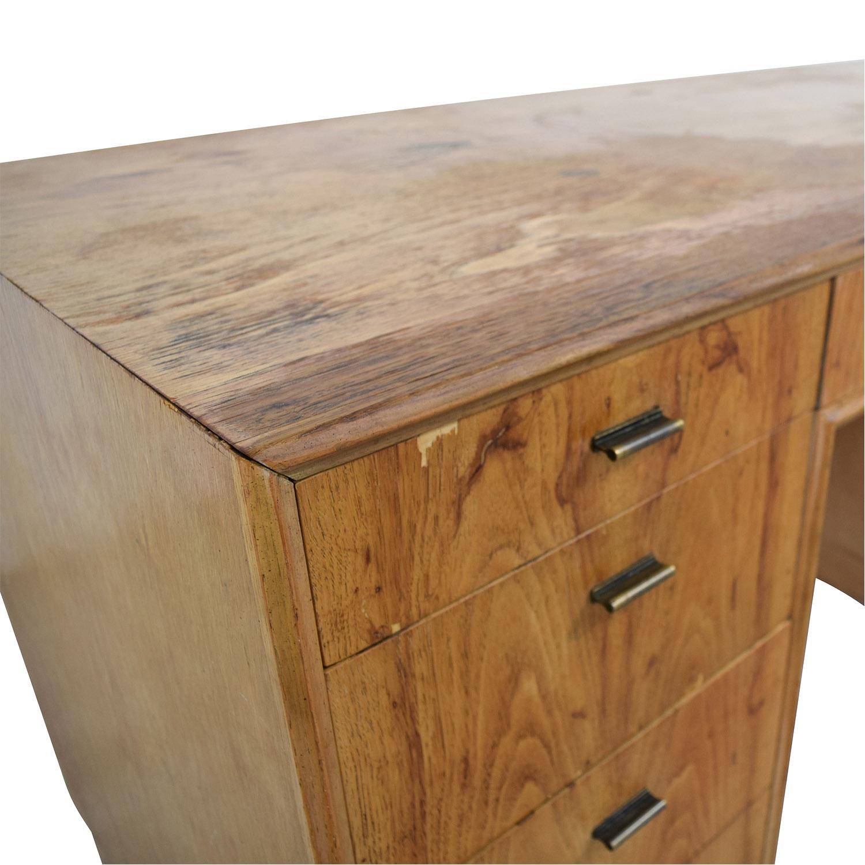 Vintage Wood Nine-Drawer Desk price