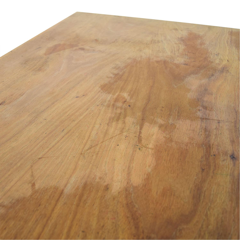 Vintage Wood Nine-Drawer Desk sale