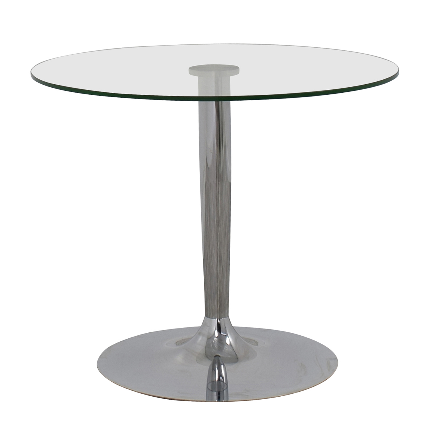 Jensen-Lewis Jensen-Lewis Glass and Chrome Round Dinette Table discount