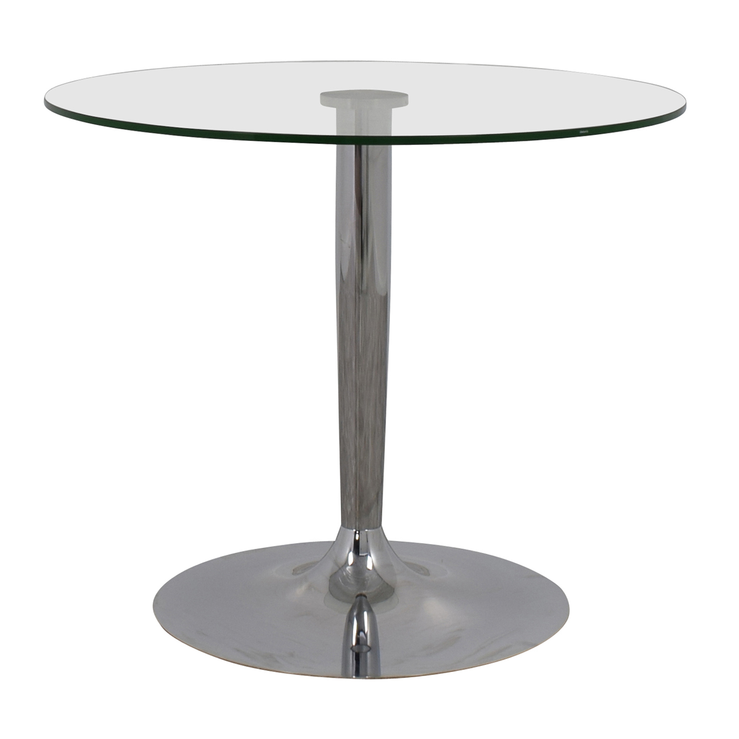 Jensen-Lewis Jensen-Lewis Glass and Chrome Round Dinette Table for sale