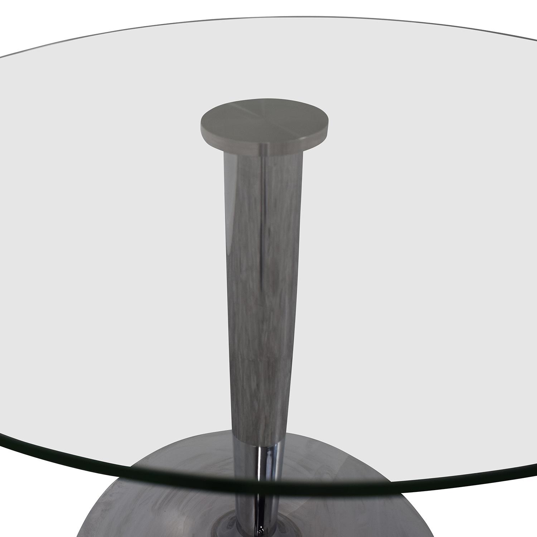 Jensen-Lewis Jensen-Lewis Glass and Chrome Round Dinette Table Dinner Tables