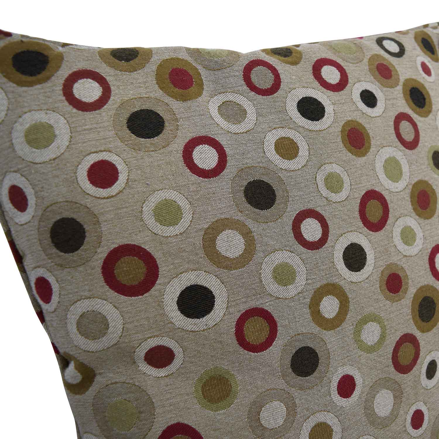 Tan with Multi-Colored Circles Toss Pillows for sale