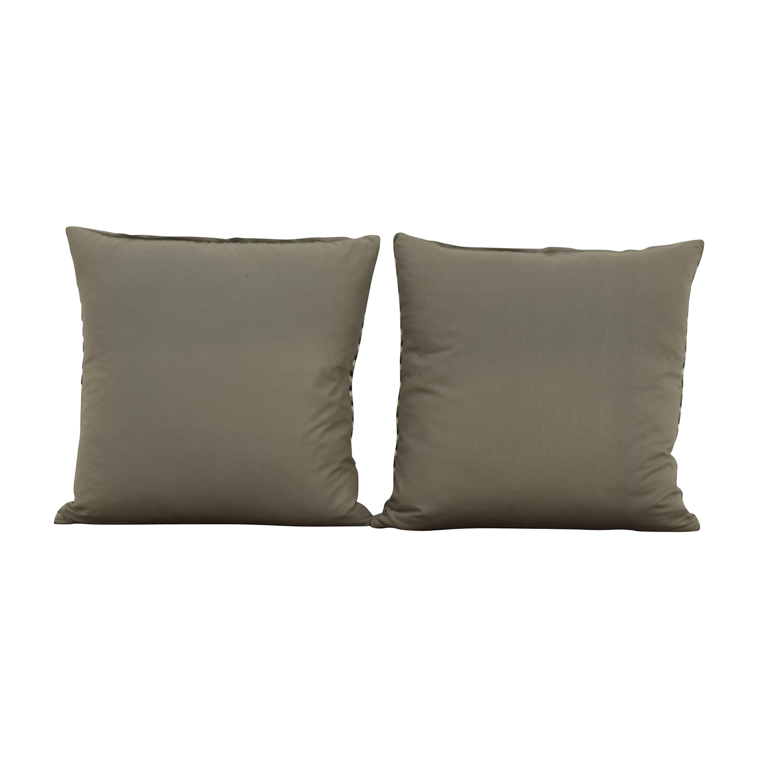 Striped Black Cream and Grey Toss Pillows used