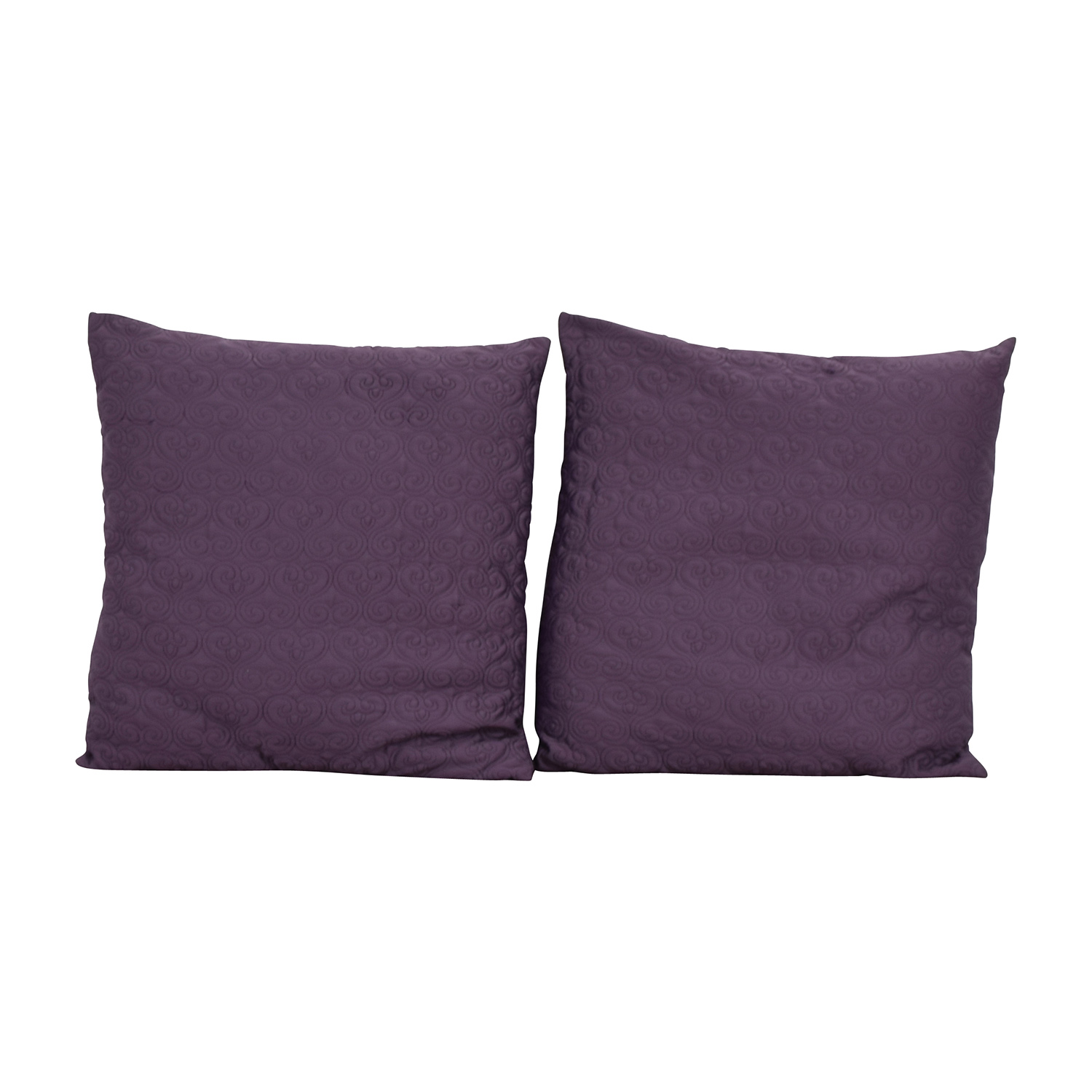 Purple Quilted Toss Pillows / Decor