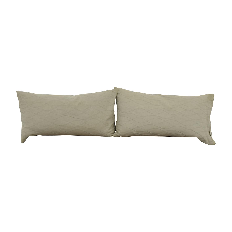 Superb 85 Off Calvin Klein Calvin Klein Beige Wave Design Toss Pillows Decor Andrewgaddart Wooden Chair Designs For Living Room Andrewgaddartcom