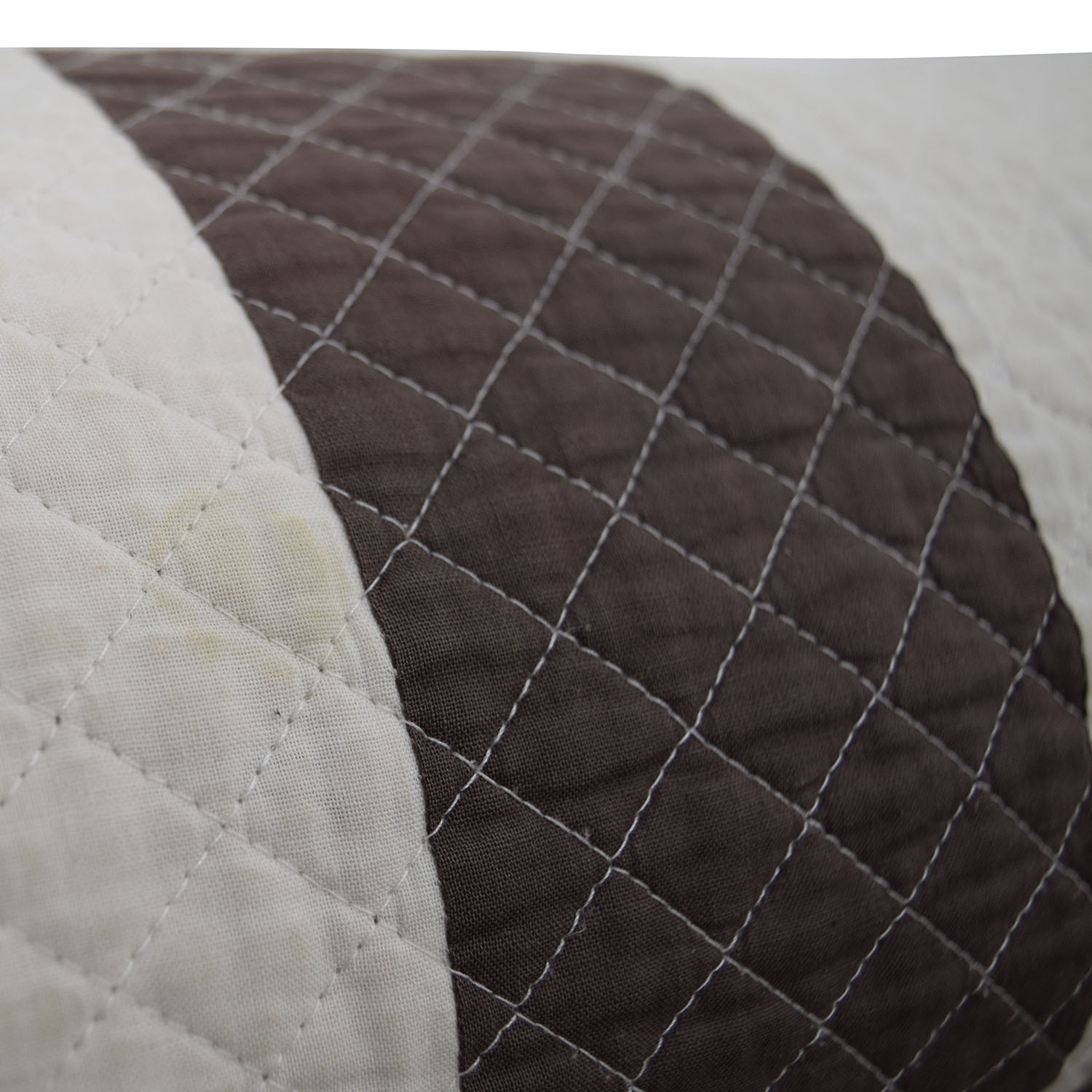 Brown and White Quilted Neck Roll discount
