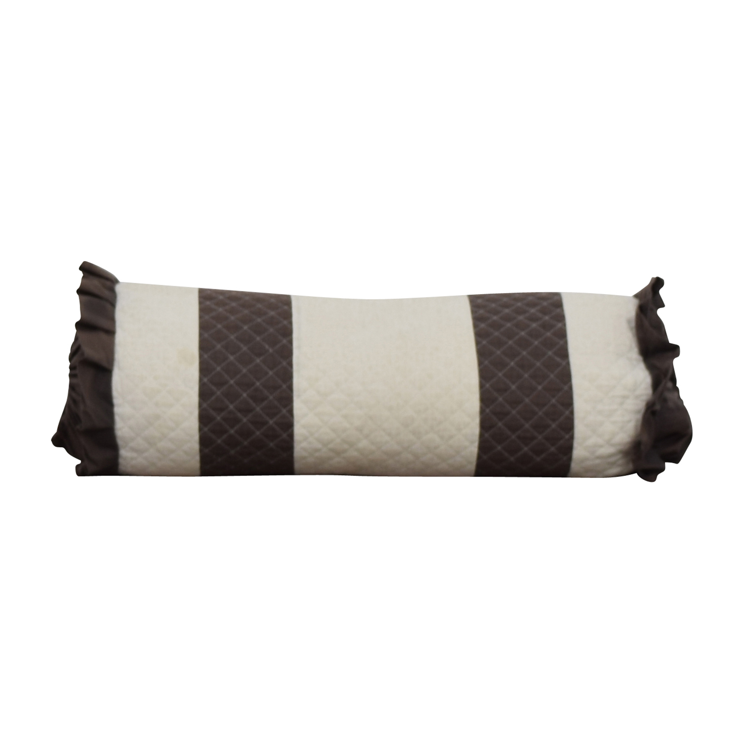 Brown and White Quilted Neck Roll price