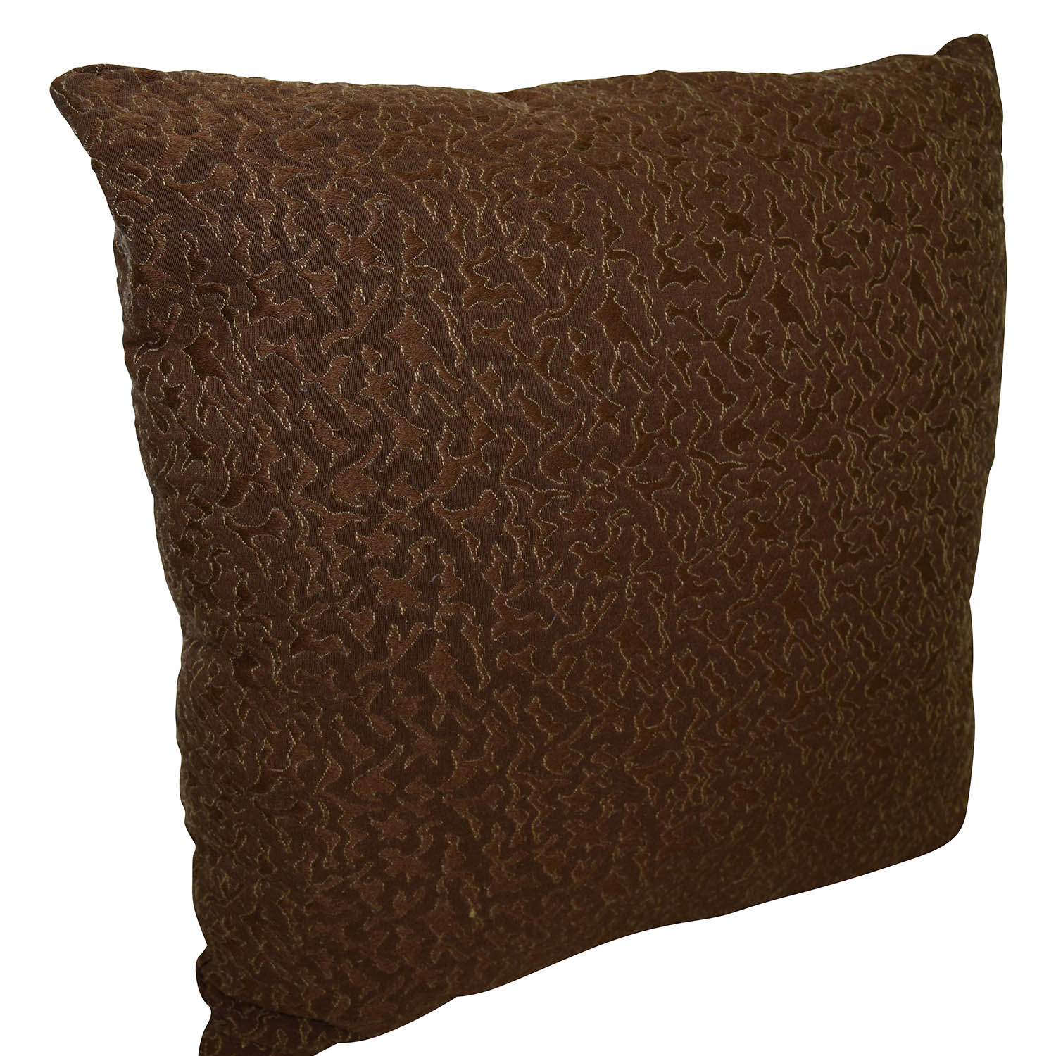 Two-toned Brown Toss Pillow