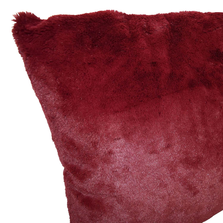 Burgundy Faux Fur Toss Pillows / Decor