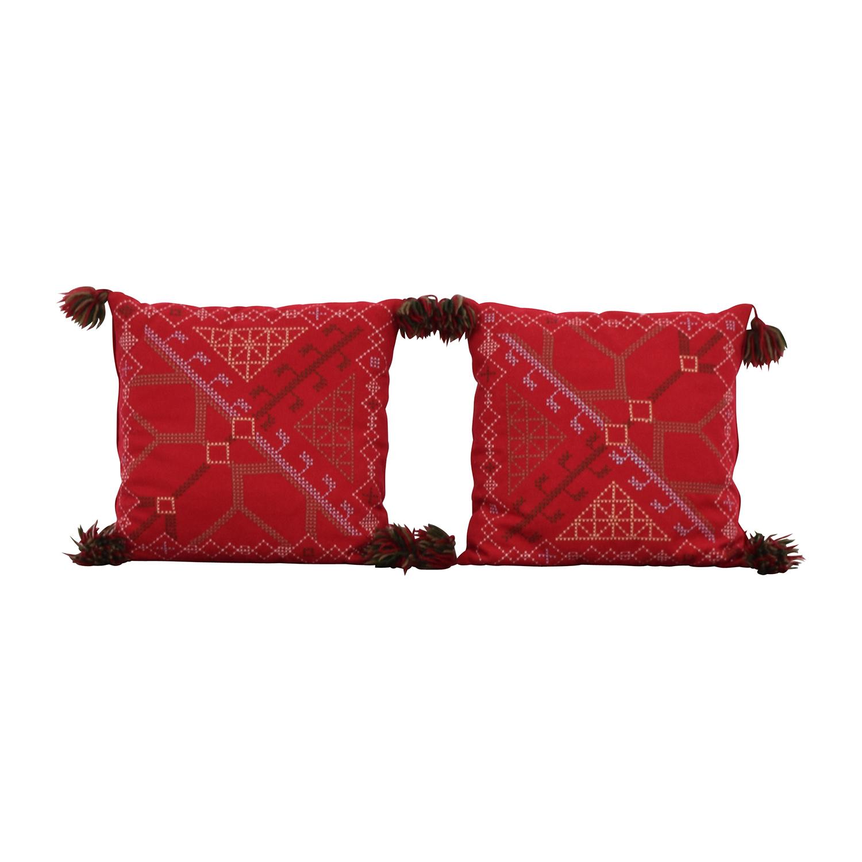 Red Decorative Toss Pillows