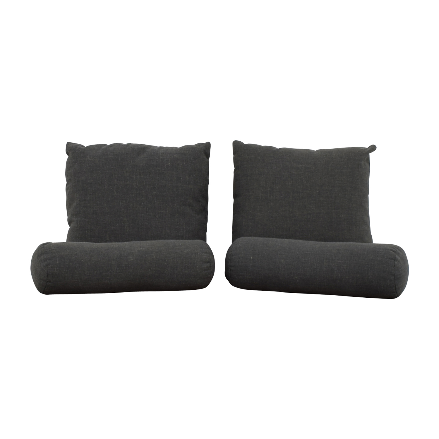 shop Grey Square Toss Pillow and Neck Rolls