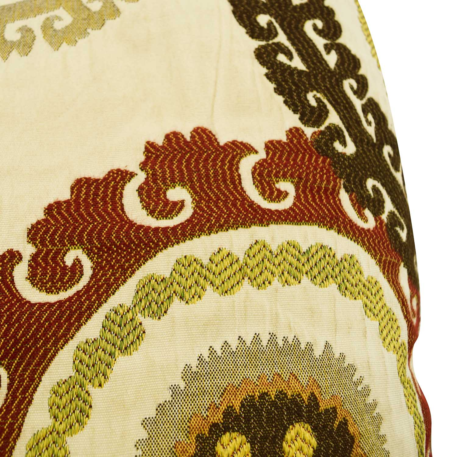 Multi-colored Embroidered Square Pillows second hand