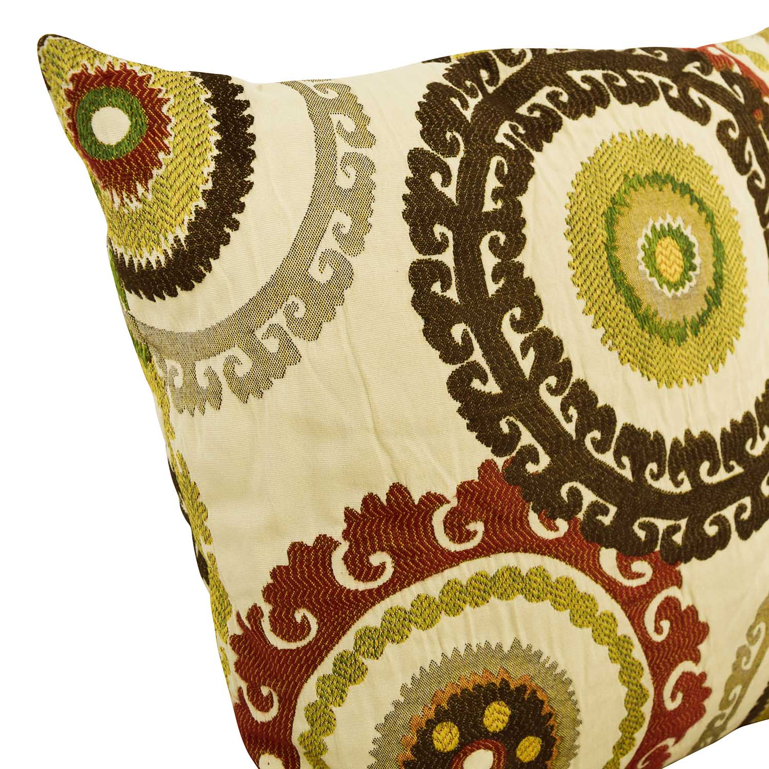 Multi-colored Embroidered Square Pillows Decor
