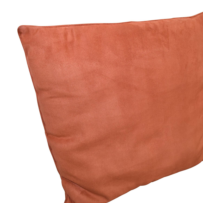 Orange Microfiber Toss Pillows Decorative Accents