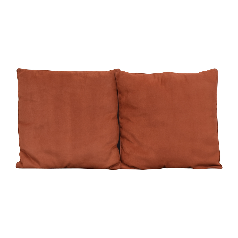 Orange Microfiber Toss Pillows sale