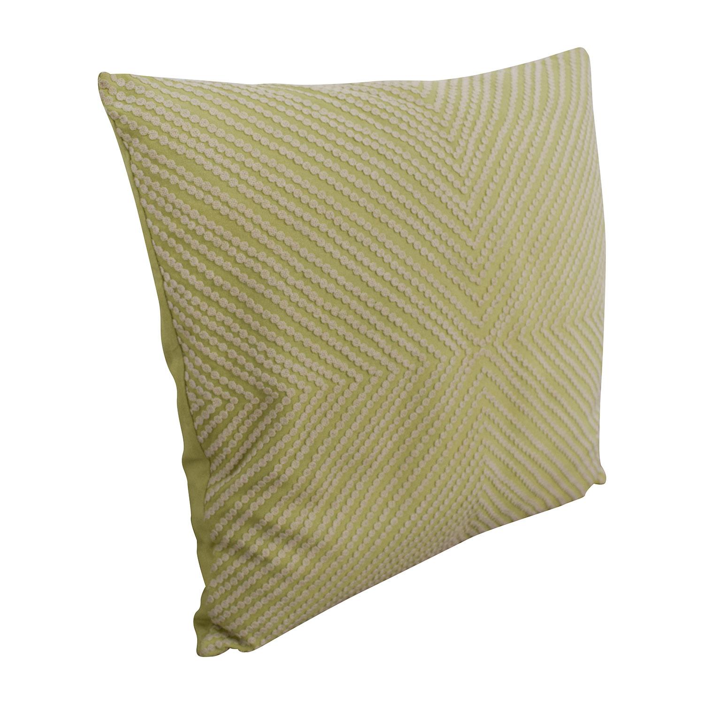 Lime Green and Cream Decorative Toss Pillow Decor