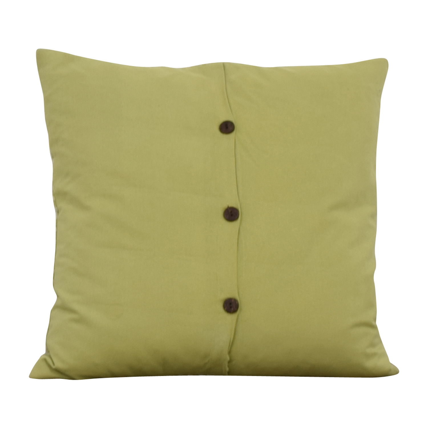 Lime Green and Cream Decorative Toss Pillow on sale