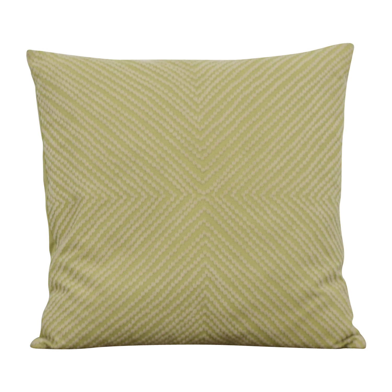 Lime Green and Cream Decorative Toss Pillow