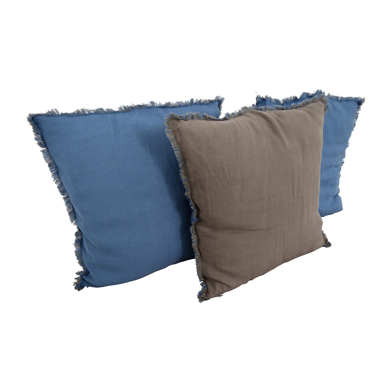 shop Reversible Blue and Brown Toss Pillows online