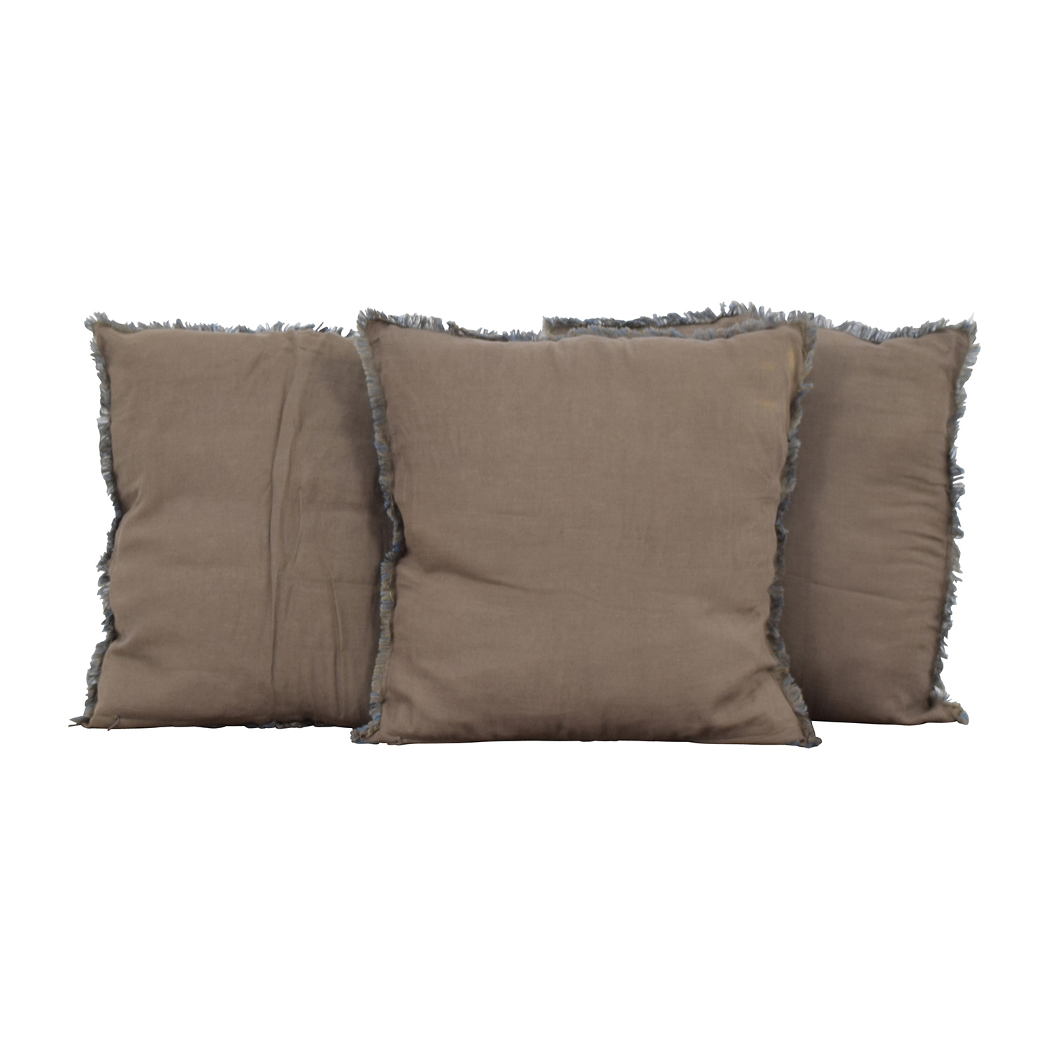 Reversible Blue and Brown Toss Pillows / Decor