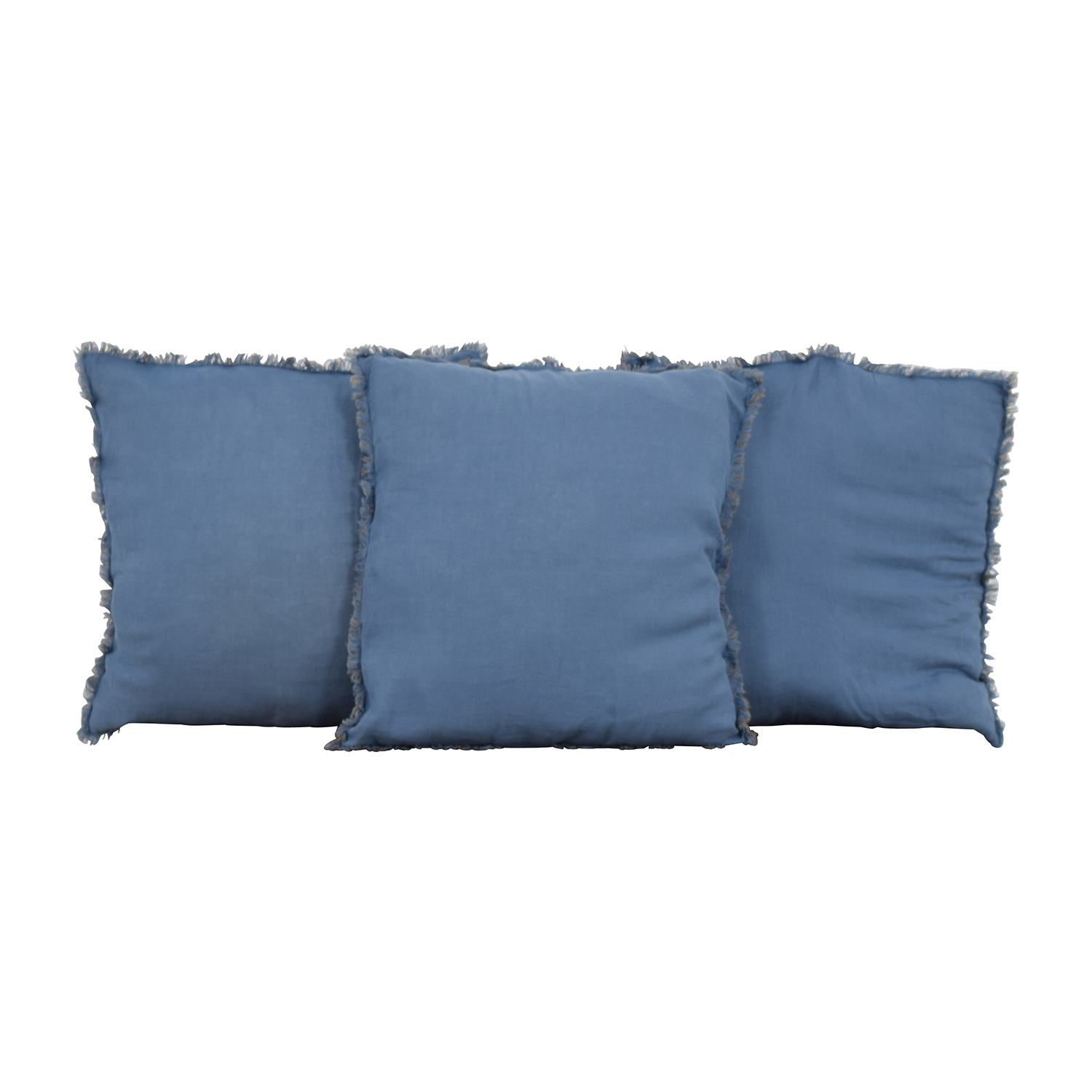 Reversible Blue and Brown Toss Pillows