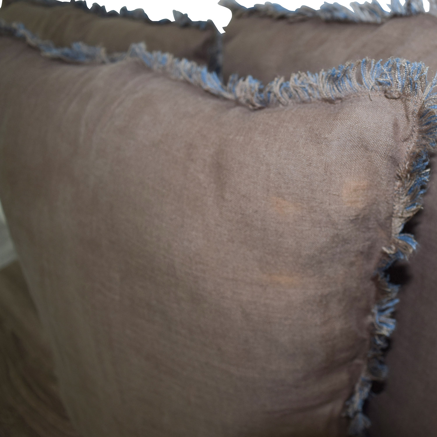 Reversible Blue and Brown Toss Pillows second hand
