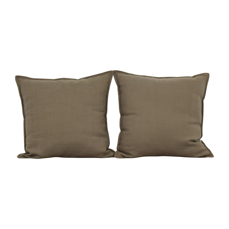 buy Jute Tan Toss Pillows online