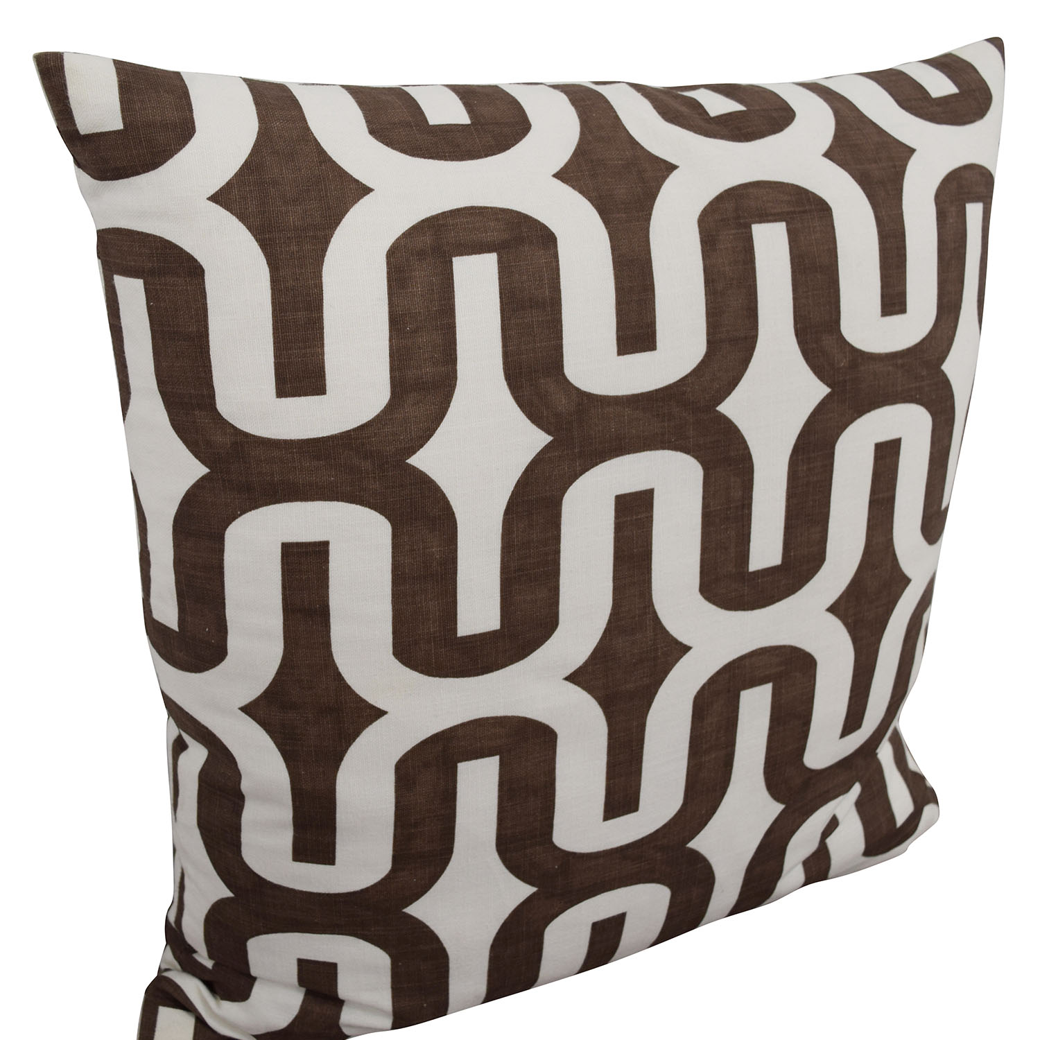 Brown and White Decorative Toss Pillows