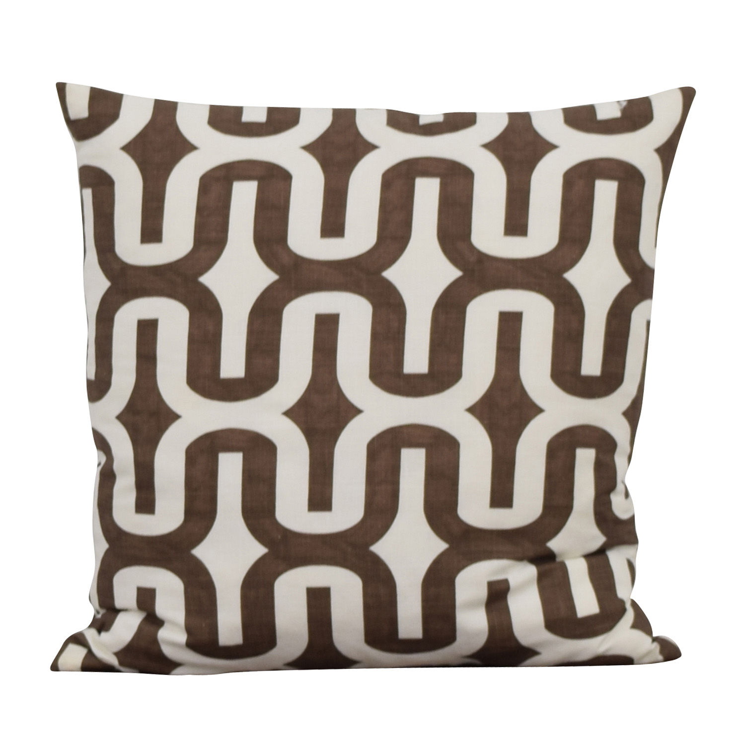 Brown and White Decorative Toss Pillows / Sofas