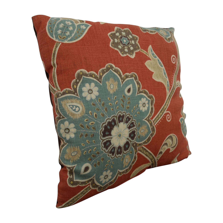 buy Multi-colored Flower Toss Pillow