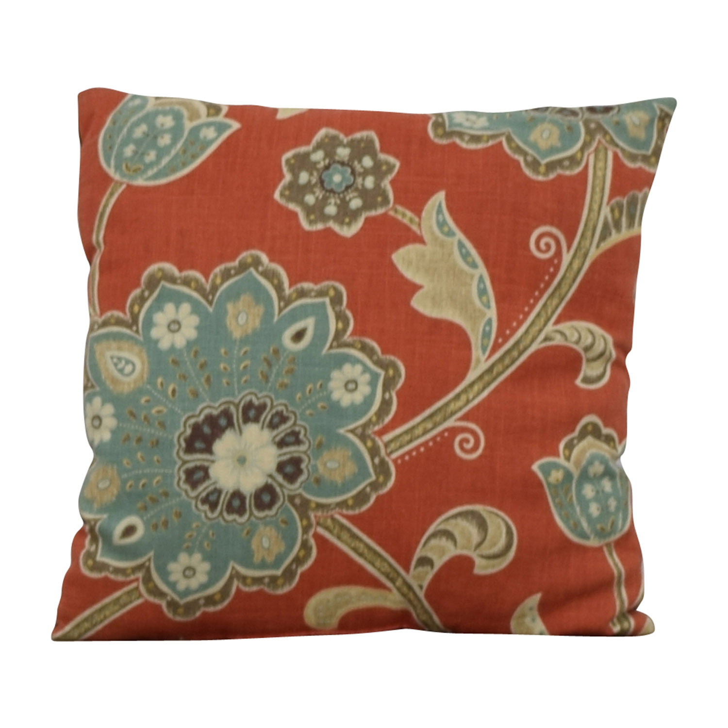 Multi-colored Flower Toss Pillow Decorative Accents