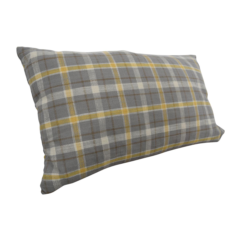 Plaid Roll Cushion / Decor